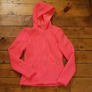 Spyder Core Fleece Lined Sweater Hoodie Pink Sz XS